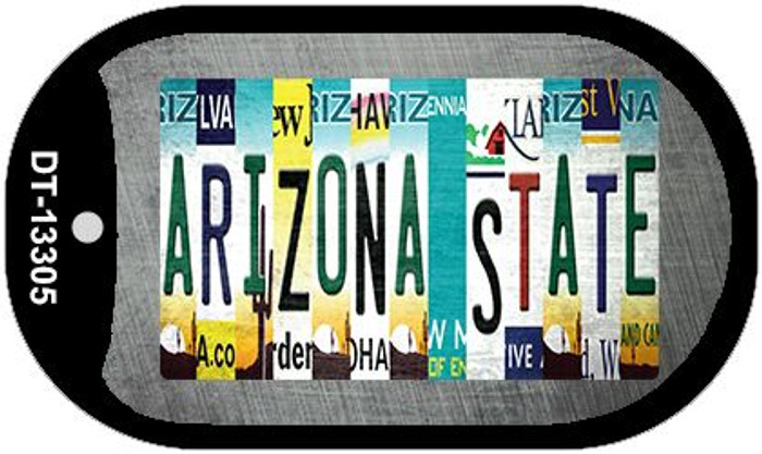 Arizona State Strip Art Wholesale Novelty Metal Dog Tag Necklace DT-13305