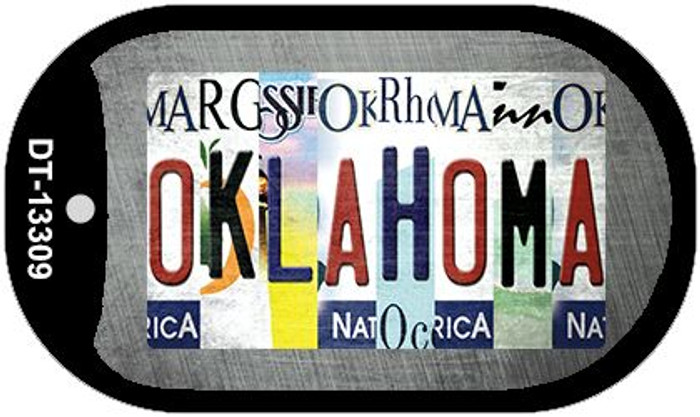 Oklahoma Strip Art Wholesale Novelty Metal Dog Tag Necklace DT-13309