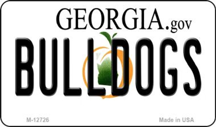 Bulldogs Wholesale Novelty Metal Magnet M-12726