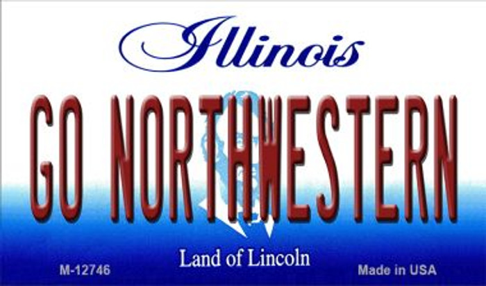 Go Northwestern Wholesale Novelty Metal Magnet M-12746
