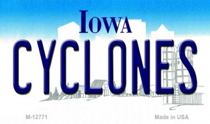 Cyclones Wholesale Novelty Metal Magnet M-12771
