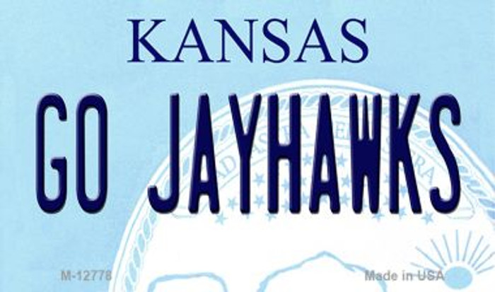 Go Jayhawks Wholesale Novelty Metal Magnet M-12778