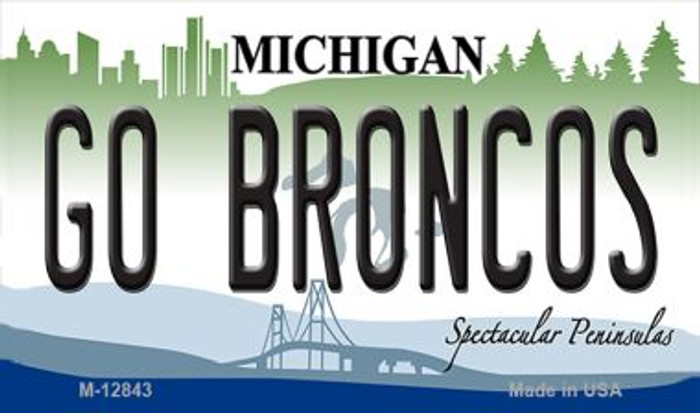 Go Broncos Wholesale Novelty Metal Magnet M-12843