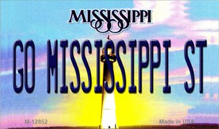 Go Mississippi State Wholesale Novelty Metal Magnet M-12852