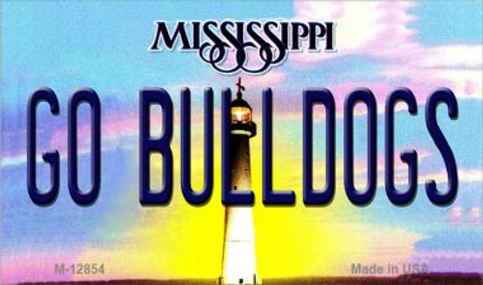 Go Bulldogs Wholesale Novelty Metal Magnet M-12854
