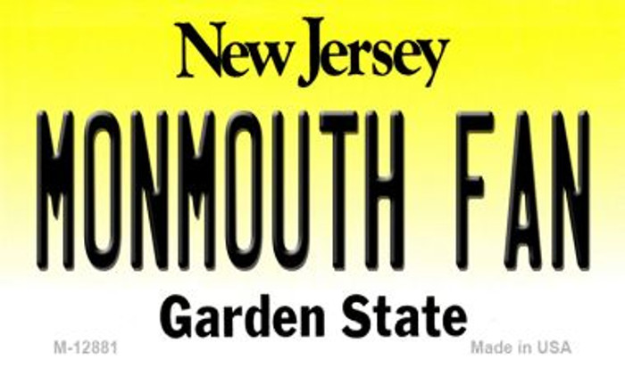 Monmouth Fan Wholesale Novelty Metal Magnet M-12881