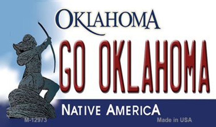 Go Oklahoma Wholesale Novelty Metal Magnet M-12973