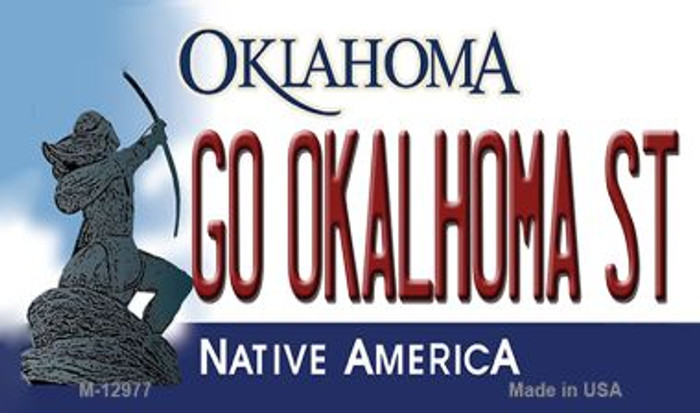 Go Oklahoma State Wholesale Novelty Metal Magnet M-12977