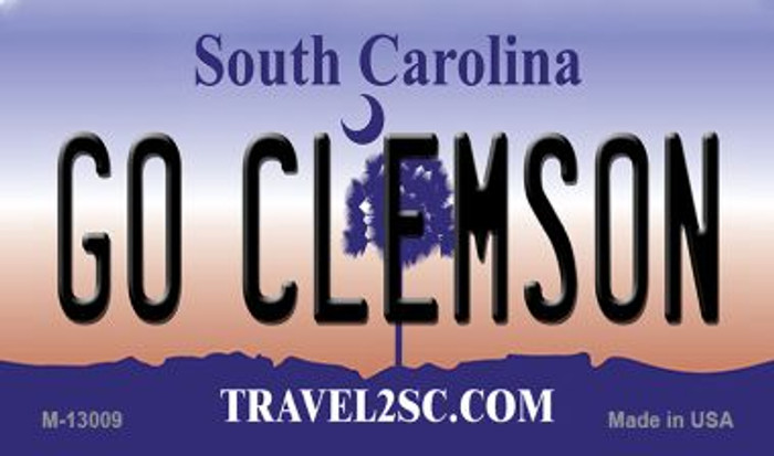 Go Clemson Wholesale Novelty Metal Magnet M-13009