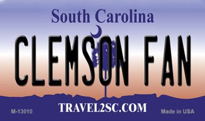 Clemson Fan Wholesale Novelty Metal Magnet M-13010