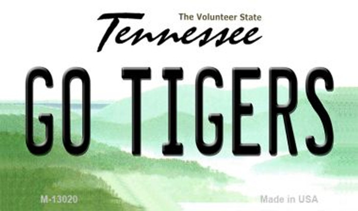 Go Tigers Wholesale Novelty Metal Magnet M-13020