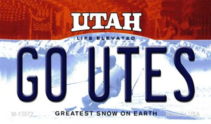 Go Utes Wholesale Novelty Metal Magnet M-13072