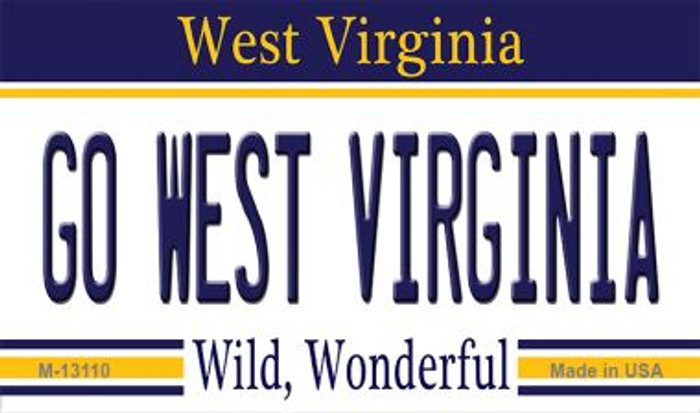 Go West Virginia Wholesale Novelty Metal Magnet M-13110