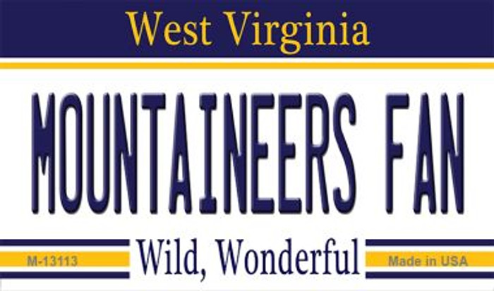 Mountaineers Fan Wholesale Novelty Metal Magnet M-13113