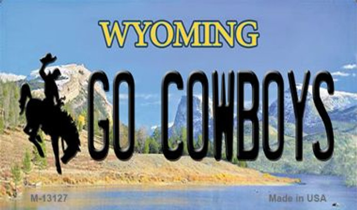 Go Cowboys Wholesale Novelty Metal Magnet M-13127