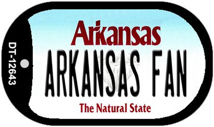 Arkansas Fan Wholesale Novelty Metal Dog Tag Necklace DT-12643
