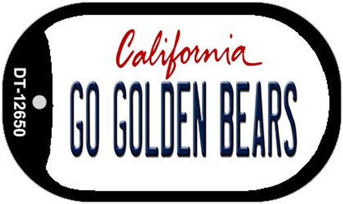 Go Golden Bears Wholesale Novelty Metal Dog Tag Necklace DT-12650