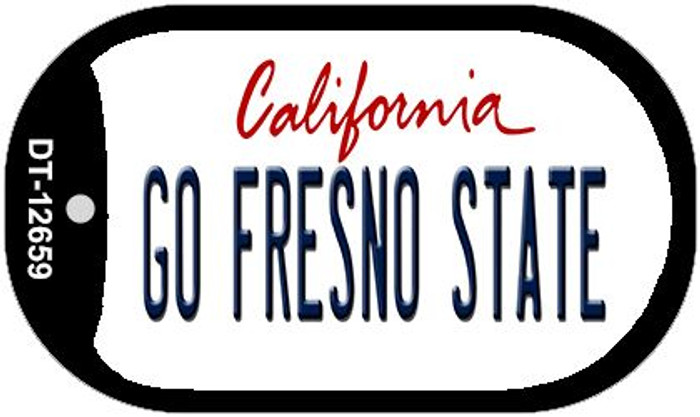 Go Fresno State Wholesale Novelty Metal Dog Tag Necklace DT-12659