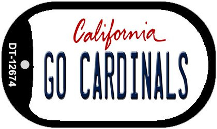 Go Cardinals Wholesale Novelty Metal Dog Tag Necklace DT-12674