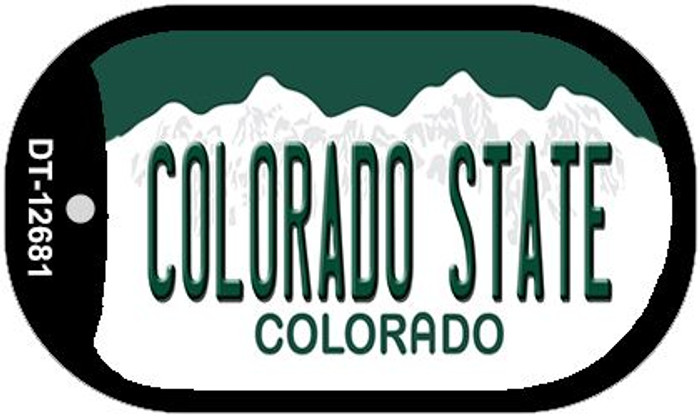 Colorado State Wholesale Novelty Metal Dog Tag Necklace DT-102681