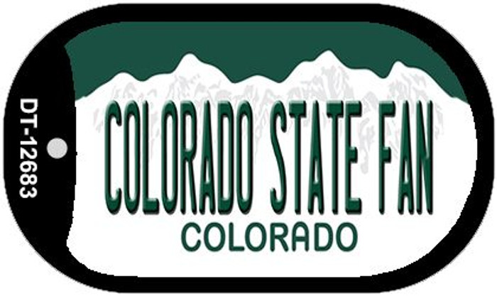 Colorado State Fan Wholesale Novelty Metal Dog Tag Necklace DT-12683