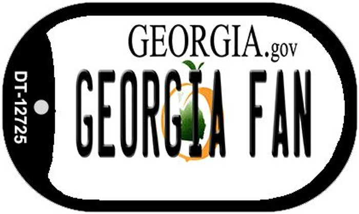 Georgia Fan Wholesale Novelty Metal Dog Tag Necklace DT-12725