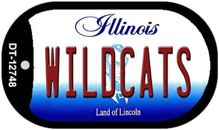 Wildcats Wholesale Novelty Metal Dog Tag Necklace DT-12748