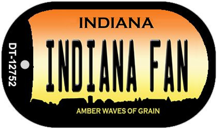 Indiana Fan Wholesale Novelty Metal Dog Tag Necklace DT-12752