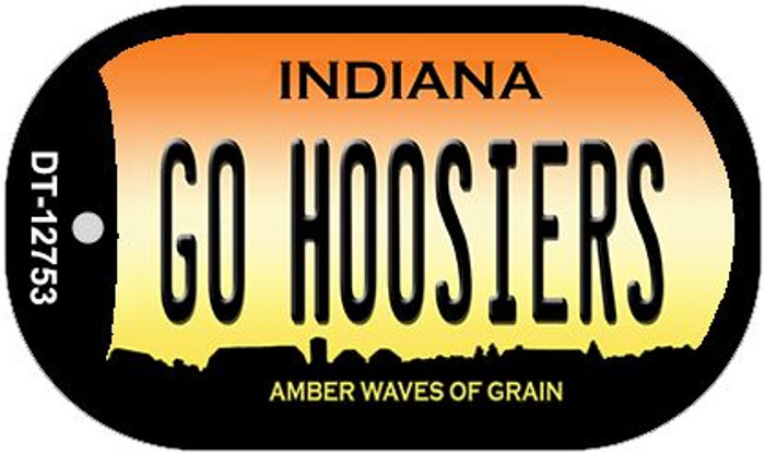 Go Hoosiers Wholesale Novelty Metal Dog Tag Necklace DT-12753