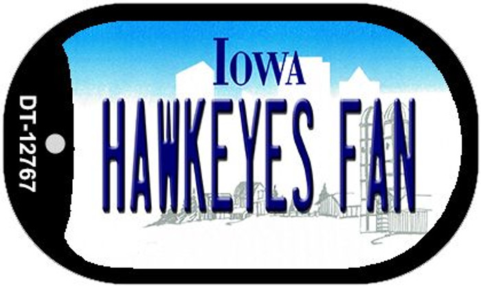 Hawkeyes Fan Wholesale Novelty Metal Dog Tag Necklace DT-12767