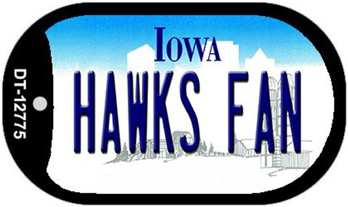 Hawks Fan Wholesale Novelty Metal Dog Tag Necklace DT-12775