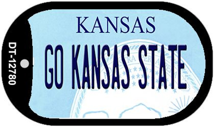Go Kansas State Wholesale Novelty Metal Dog Tag Necklace DT-12780
