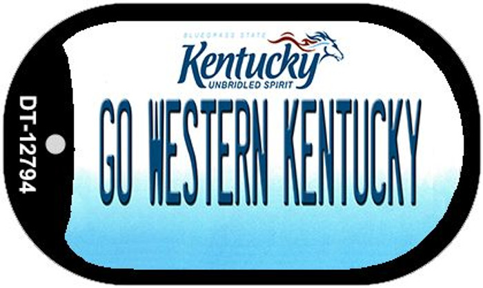 Go Western Kentucky Wholesale Novelty Metal Dog Tag Necklace DT-12794