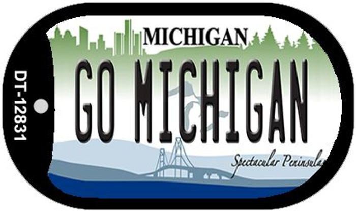 Go Michigan Wholesale Novelty Metal Dog Tag Necklace DT-12831