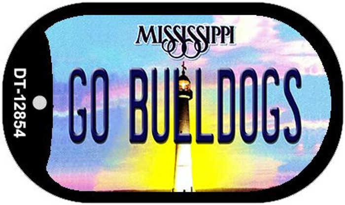 Go Bulldogs Wholesale Novelty Metal Dog Tag Necklace DT-12854