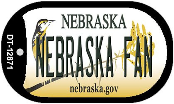 Nebraska Fan Wholesale Novelty Metal Dog Tag Necklace DT-12871