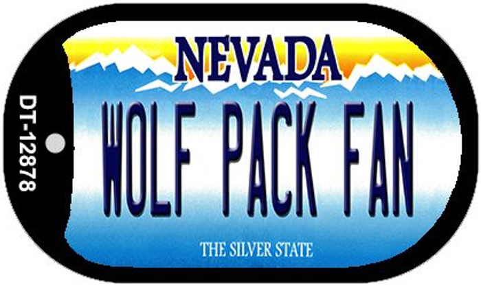 Wolf Pack Fan Wholesale Novelty Metal Dog Tag Necklace DT-12878