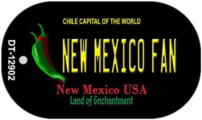 New Mexico Fan Wholesale Novelty Metal Dog Tag Necklace DT-12902