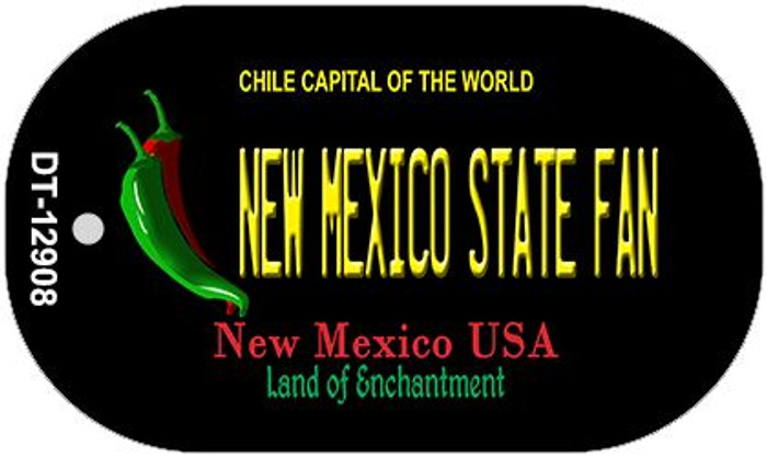 New Mexico State Fan Wholesale Novelty Metal Dog Tag Necklace DT-12908