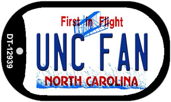 Univ North Carolina Fan Wholesale Novelty Metal Dog Tag Necklace DT-12939