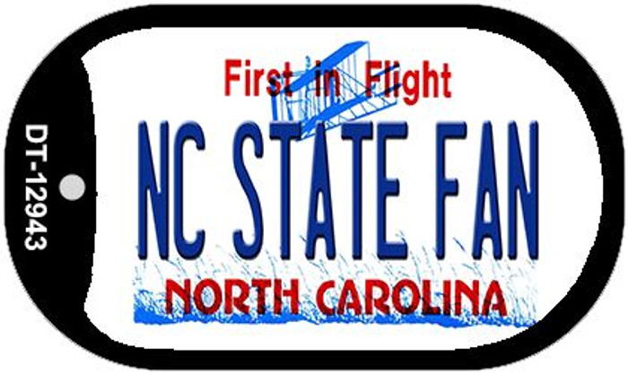 North Carolina State Fan Wholesale Novelty Metal Dog Tag Necklace DT-12943