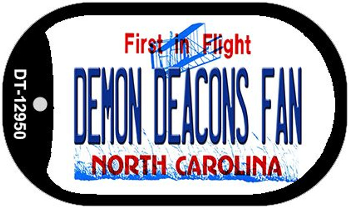 Demon Deacons Fan Wholesale Novelty Metal Dog Tag Necklace DT-12950