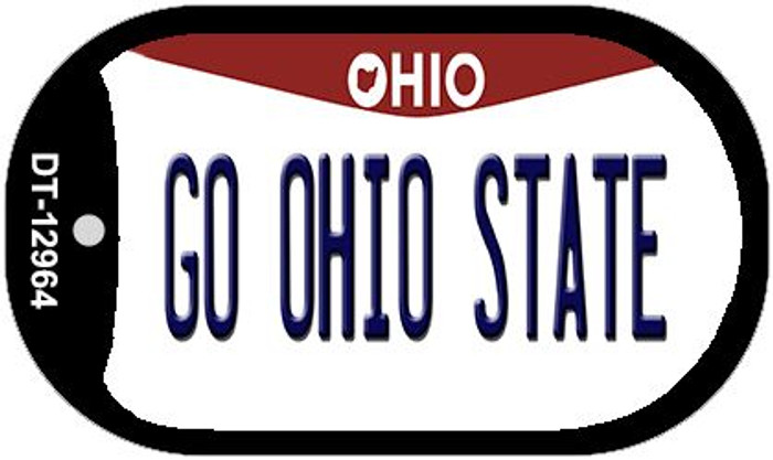 Go Ohio State Wholesale Novelty Metal Dog Tag Necklace DT-12964