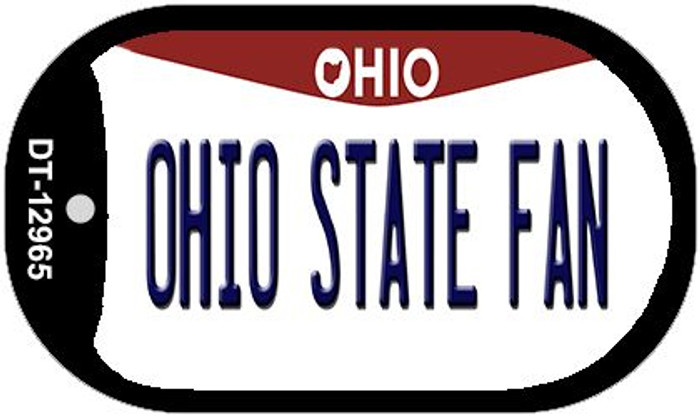 Ohio State Fan Wholesale Novelty Metal Dog Tag Necklace DT-12965