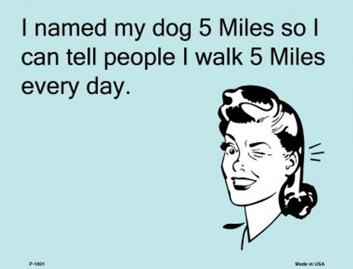 Named My Dog 5 Miles E-Cards Wholesale Metal Novelty Small Parking Sign