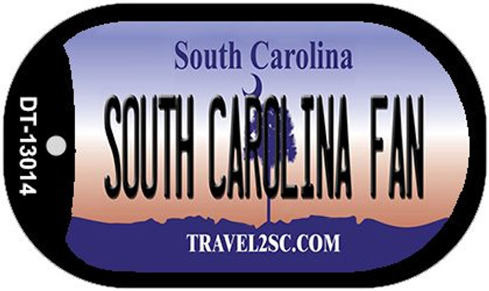South Carolina Fan Wholesale Novelty Metal Dog Tag Necklace DT-13014