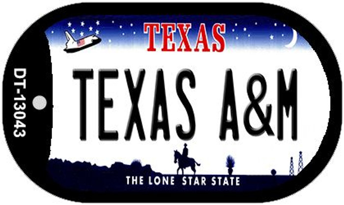 Texas A&M Wholesale Novelty Metal Dog Tag Necklace DT-13043