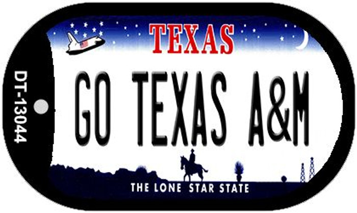 Go Texas A&M Wholesale Novelty Metal Dog Tag Necklace DT-13044