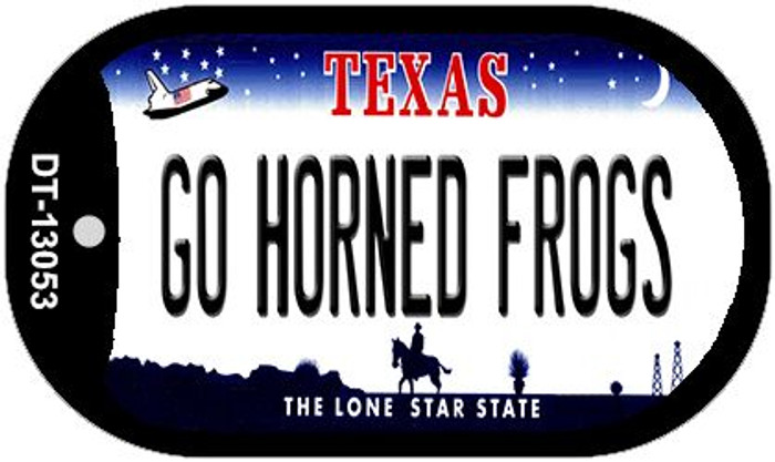 Go Horned Frogs Wholesale Novelty Metal Dog Tag Necklace DT-13053