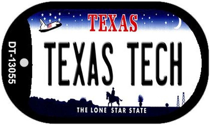 Texas Tech Wholesale Novelty Metal Dog Tag Necklace DT-13055